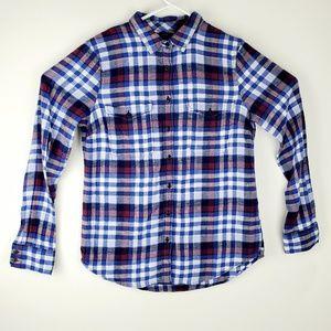 J. CREW Boyfriend Flannel Shirt Women's 12 Button